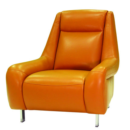 HTL INTERNATIONAL   PS 400 This High Back Leather Club Chair, Which Is