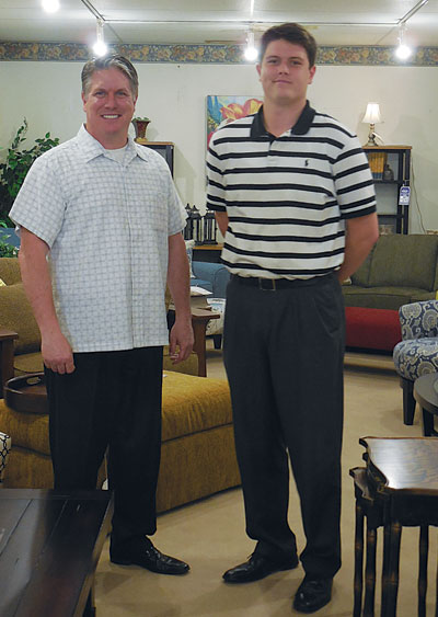 Best Home Furnishings Indiana facility. Louis Schmitt, president of Schmitt  Furniture, left; Zachary Schmitt, general manager