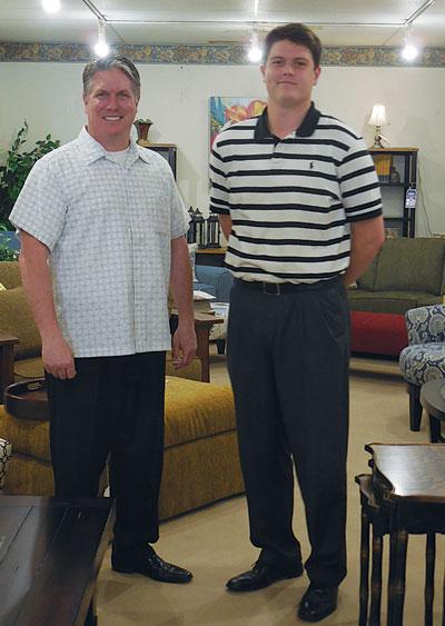 Louis Schmitt, President Of Schmitt Furniture, Left; Zachary Schmitt,  General Manager