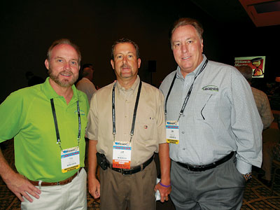 Tim Donk, Left, Legends Furniture; Jeff McCamy, Furniture Distributors,  Havelock, N.C.; And Jim Cherry, Legends.