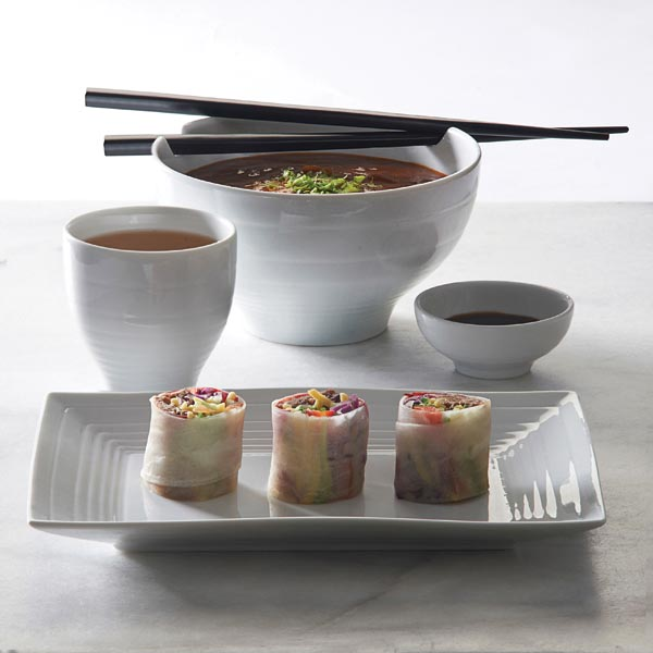 Silk is a new fine porcelain collection with an Eastern vibe. typhoonhousewares.com