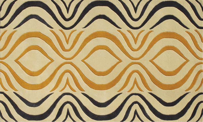 A handtufted contemporary rug made of New Zealand wool, Noble House's Cologne is in a modern swirl and abstract pattern.  noblehouseinc.com