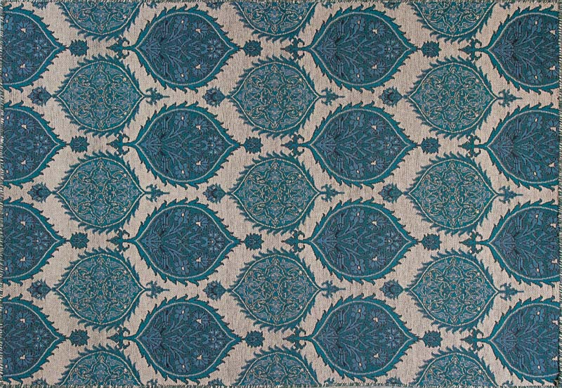 Kas Rugs's Lahiri collection is machine woven of wool on a jacquard loom. The flatweave designs have distressed stitching and are made in India. It will be available in five sizes, including a runner. kasrugs.com