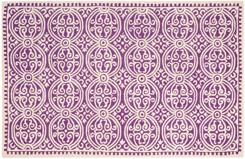 From the Chatham collection by Safavieh, style CHT717F is handtufted of wool in India in a rich shade of orchid.  safavieh.com