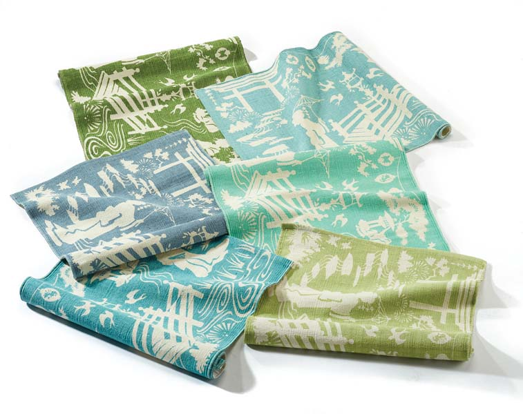 Showing in Synergy Sales Associates' showroom, Extra Weave USA will debut its Chinoiserie group, a colorful, preassorted 12-piece set of fun prints on 100 percent cotton with non-slip EVA backing. extraweaveusa.net