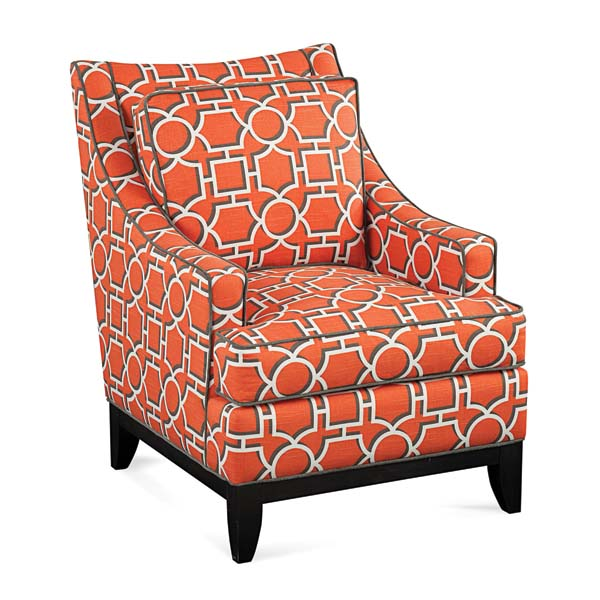 Libby Langdon's Whitaker chair is a lighter, airier version of the classic club chair. libbylangdon.com
