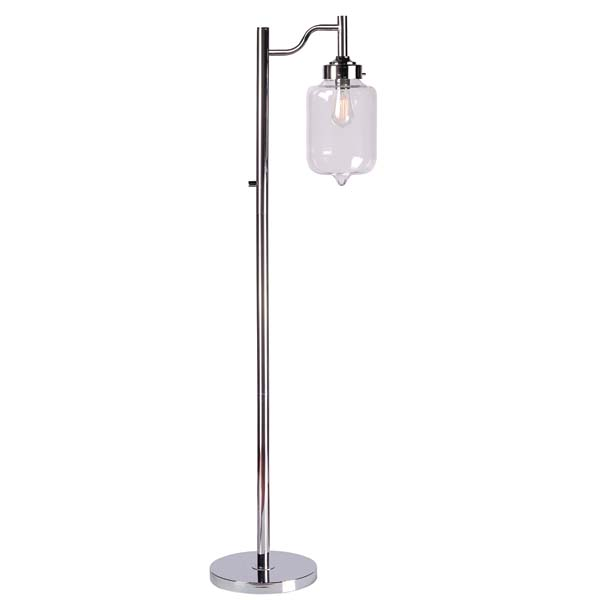 An extension of Kenroy Home's best selling pendant, the Casey floor lamp has an ultra-sleek design with an industrial urban-chic appeal. It stands 58 inches high. kenroyhome.com