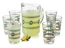 The thick-walled pieces in the Veracruz seven-piece set draw inspiration from Mexican cantinas. libbey.com