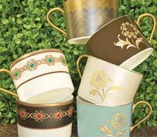 Nikko is offering several fine bone china collections with gold and raised-design details. nikkoceramics.com