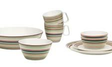 Origo dinnerware now features a trendy and serene green pattern. iittala.com