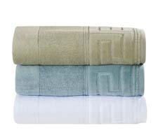 Light tones characterize the color palette in the Grand Keys bath-towel collection under the Cobra label. espalma.com