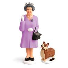 Place Kikkerland's Solar Queen (and her corgi Elroy) in a sunny spot and watch her give a royal wave from the wrist. kikkerland.com