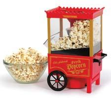 The Cinema Corn Popper uses hot air instead of oil, making for fluffier and healthier popped corn. toastess.com