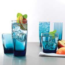 New blue shades have been added to the color palette of the company's drinkware collection. anchorhocking.com