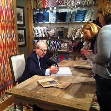 Renowned architect and interior designer David Easton and rug maker Safavieh introduced Easton's new Indian Sojourn collection of ikat carpets with a celebration and book signing.