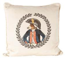 Napoleon is one of the decorative pillows in Ox Bow Decor's French Gentlemen collection, which the company debuted at this summer's New York International Gift Fair.