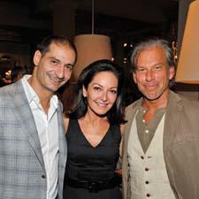 Ben Soleimani, Margaret Russell of Architectural Digest and Gary Friedman of Restoration Hardware during the event.