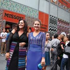 The Missoni for Target collection launched in a pop-up store for a limited time. Angela Missoni, left, and daughter Margherita were on hand to meet devoted fans.