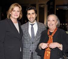 Laurie Burns of Forty One Madison, Elad Yifrach of L'Objet and tabletop consultant Cookie Levine enjoy the Forty One Madison party.