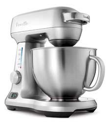 The Breville stand mixer's smooth-sounding 550-watt motor features load-sensing motor protection sensors that detect heavy mixtures and maintain precision speed. brevilleusa.com