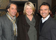 Designer Thom Filicia's shop-within-a-shop launched at the Safavieh Home Furnishings location in New York last month, bringing together his furniture, rugs, framed art and fabric collections. Among the partygoers were Martha Stewart, who stopped in to congratulate both Filicia, left, and Safavieh's Arash Yaraghi on the in-store shop.