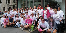The Elizabeth Miller team, made up of textiles executives and named after the Karastan executive who passed away from breast cancer in May, ran in the 20th Annual Komen Race for the Cure. The team raised more than $42,000 toward breast cancer research and awareness.