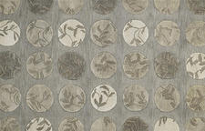 Hand tufted and carved in a blend of wool and viscose, Capel's Graphique group includes the patterns Ringlets, Hibiscus, Floral Step and Shadow Branch.  capelrugs.com