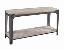 Turning House Furniture has been a leader in the industrial chic look. Here is its Calaise Console mixing a vintage wood look with metal frame. turninghousefurniture.com.