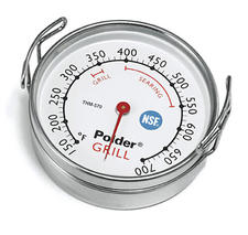 Polder sees the outdoor grilling category as strong, and introductions this year include the commercial series THM-570 grill surface thermometer, with hooks for easy removal.