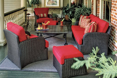 Exceptionnel The Kingston Deep Seating Wicker Outdoor Furniture Collection Offers Your  Guests Comfort In This Roomy Collection
