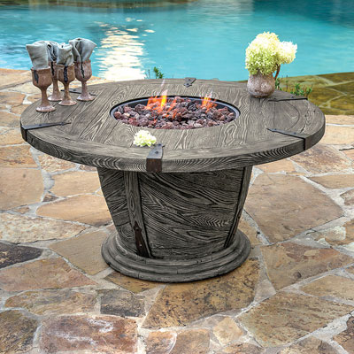 Old World Fire Pit Is Equipped With An Electronic Ignition, Porcelain  Coated Stainless Steel Fire
