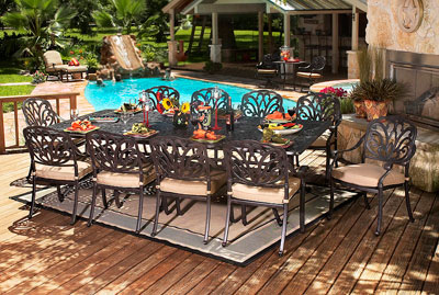 Charmant The San Marino Dining And Deep Seating Outdoor Furniture Collection Will  Add A Decorative Touch To