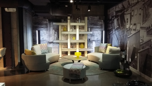 Roche Bobois features cross-category lifestyle settings.