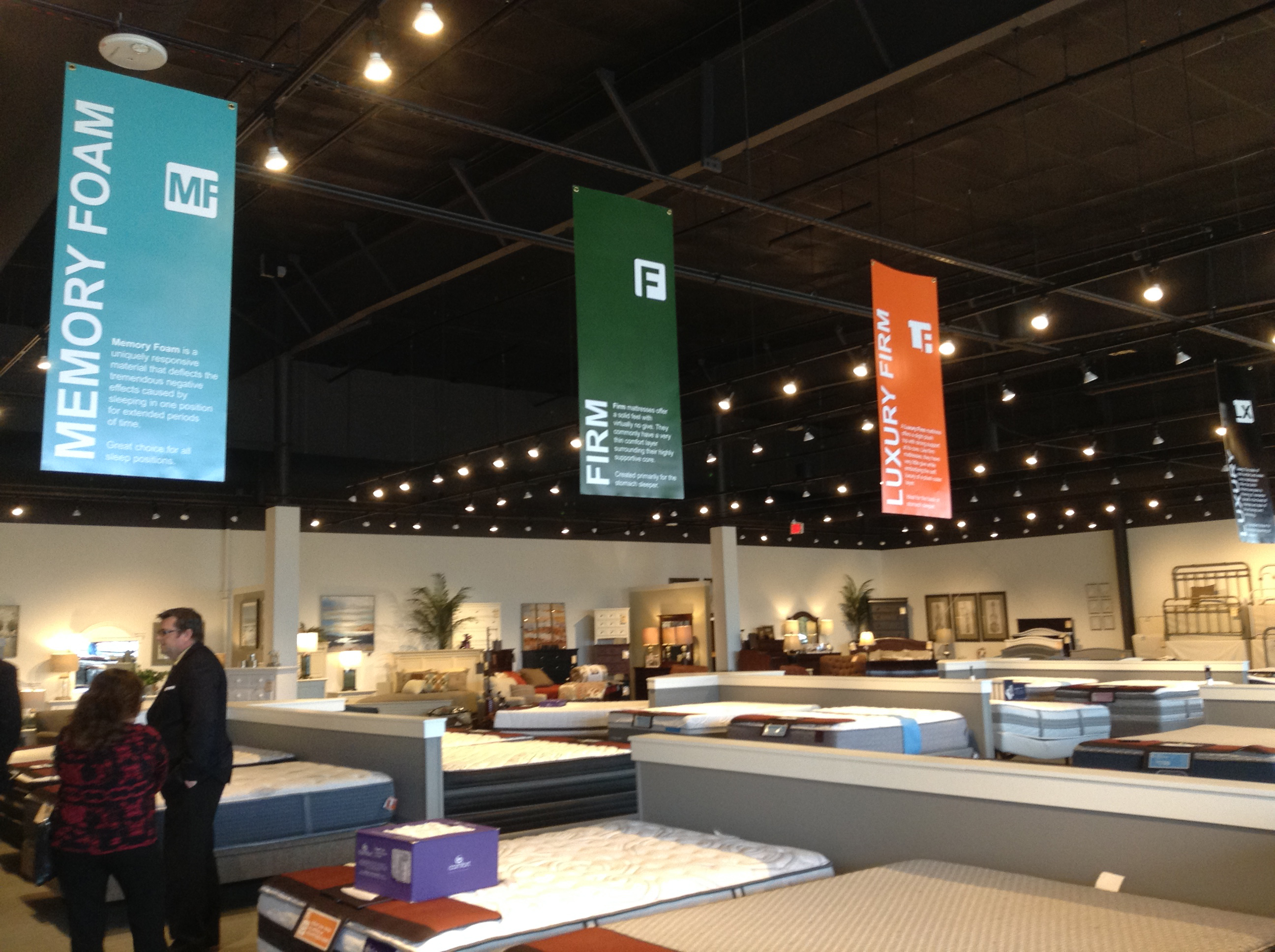 … as well and a new display and selling strategy that promotes comfort and component materials vs. brands.