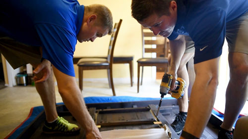 Hudson's employees make over Swiderski family's home.