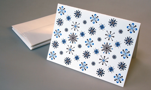winter blue holiday cards