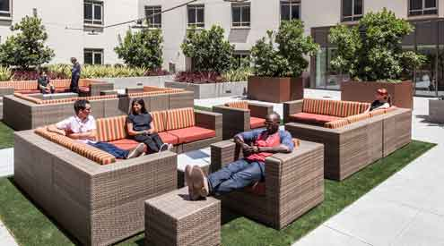 Tangram Interiors Curates Outdoor Furniture For Student Areas At University Of Southern California