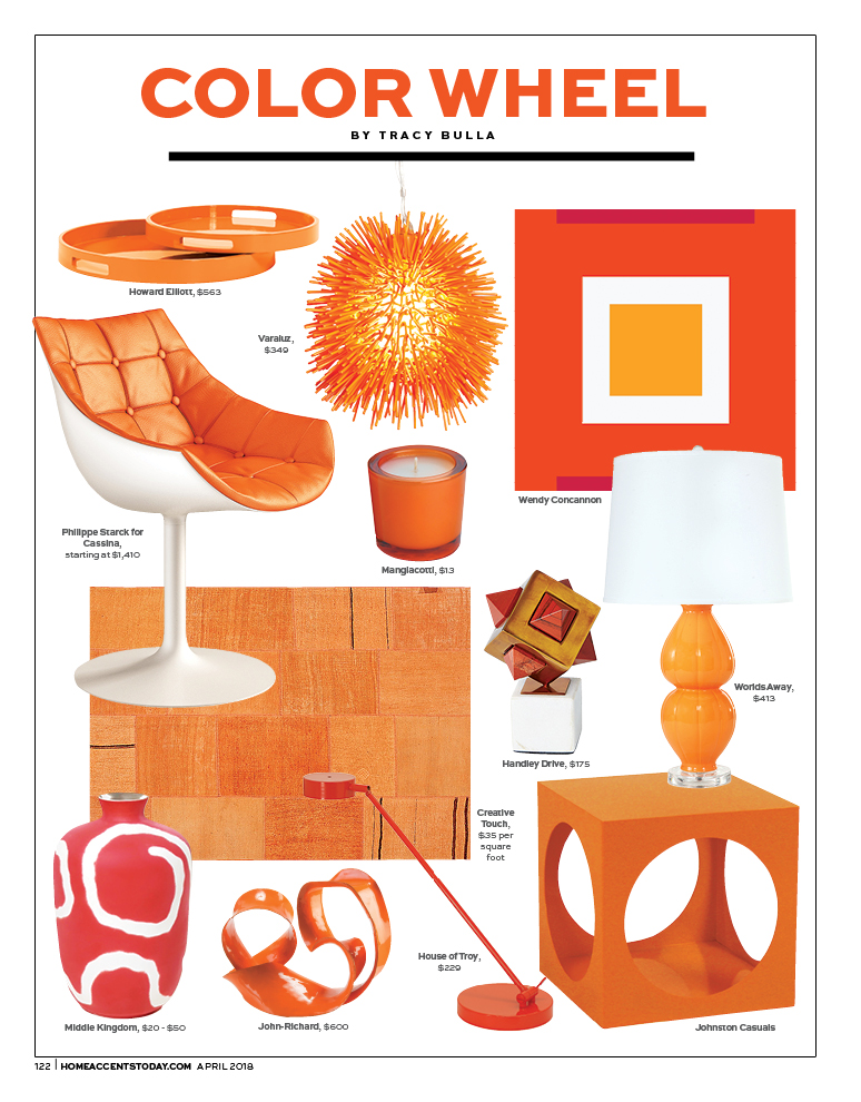 Color Wheel Tangelo Tangerine Home Accents Today