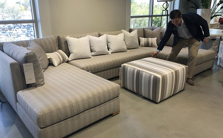 Ordinaire Haynes King, Director Of Outdoor Products For Century Furniture, Positions  An Ottoman In The New Rayland Collection.