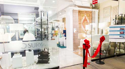 surya opens new designer showroom at the mart in chicago casual living