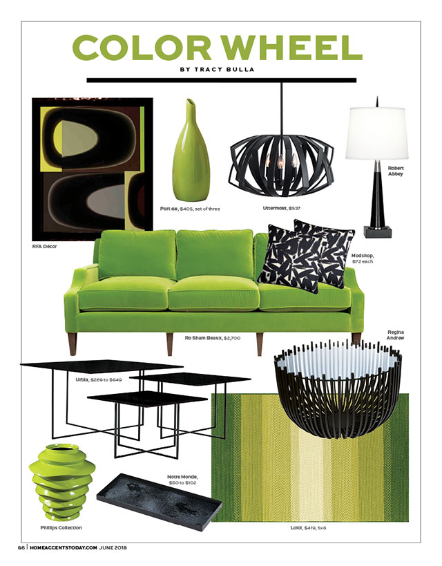 Color Wheel Lemongrass And Onyx Home Accents Today