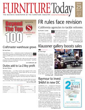 Image of Furniture Today cover June 25, 2012