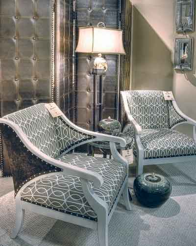 These Matching Chairs Are Showcased In Larrabeeu0027s 2,500 Square Foot Norwalk  Gallery.