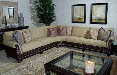 Lexingtonu0027s Tommy Bahama sectional features distinctive details and a streamlined profile. .lexington. : lexington sectional sofa - Sectionals, Sofas & Couches